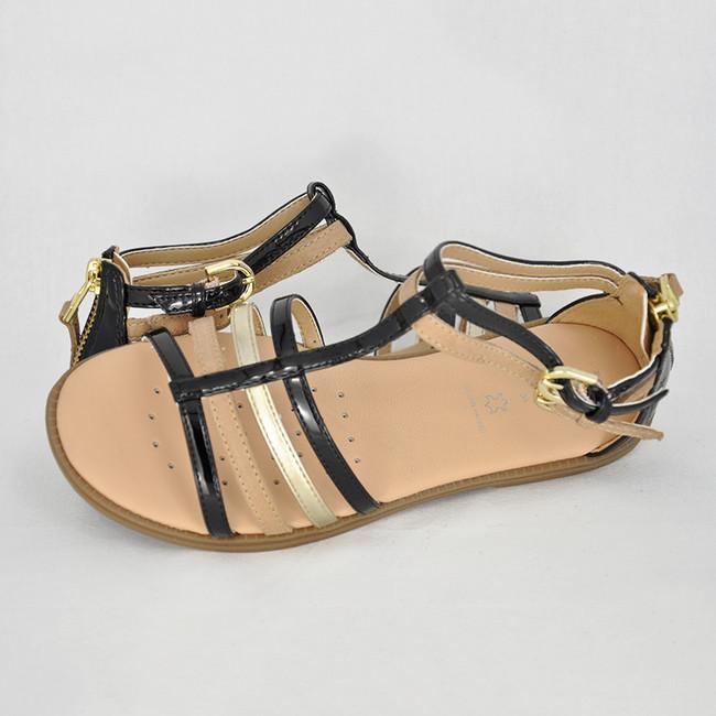 7142b195817c8 Dievčenské letné sandále Geox Black - CICIBAN