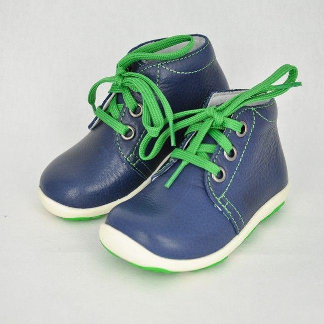 Celokožené kotníkové topánky na šnúrovanie