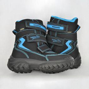 Chlapčenské zimušné topánky SF schwarz blau d08e20b46de