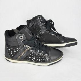 9b89419db6e1 Členkové kožené topánky Geox