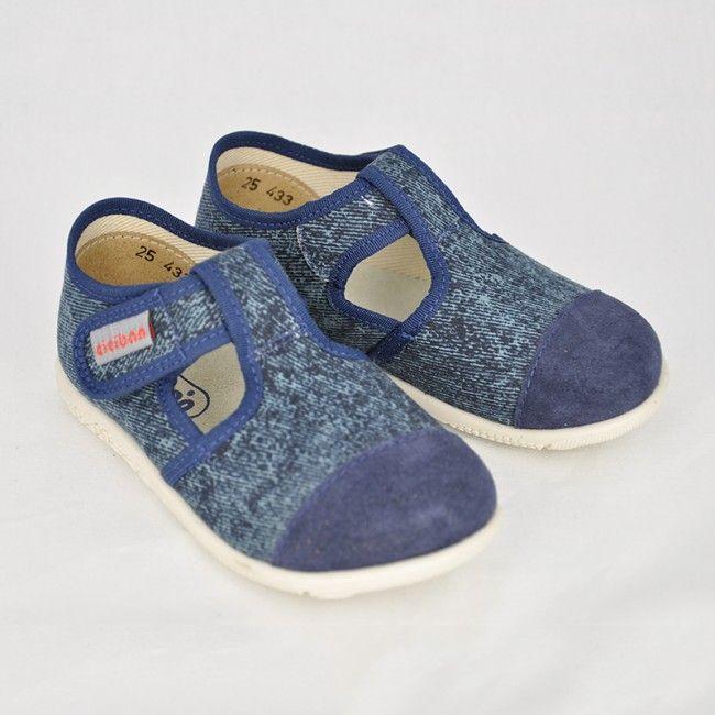 Chlapčenské papuče Ciciban JEANS polootvorené