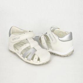 5b503d878a5b Dievčenské bielo- strieborné sandále GEOX
