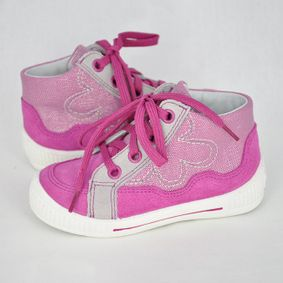 aae0e8f8a7e7 Dievčenské kotníkové topánky na šnúrovanie