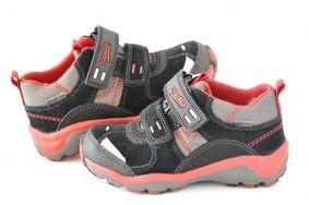 19c009c2ed48 Gore-texové kotníkové topánky červeno-čierne