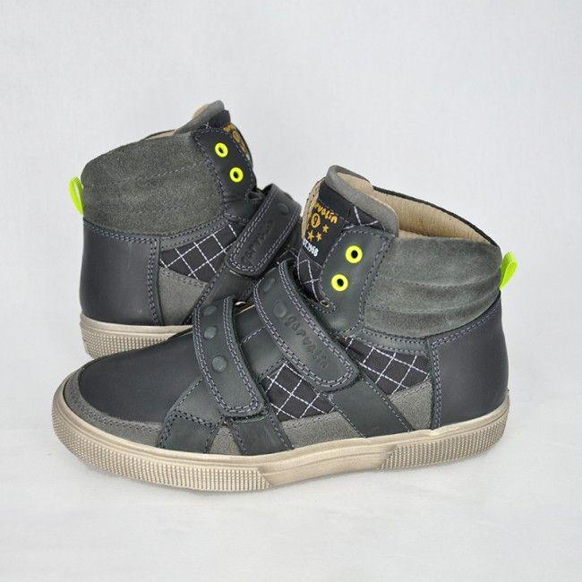 Kožené kotníkové topánky Garvalín
